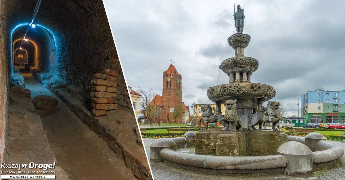Rynek w Prabutach - fontanna i podziemna trasa w wodociągach