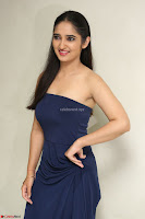 Radhika Mehrotra in sleevless Strap less Blue Gown At Prema Entha Madhuram Priyuraalu Antha Katinam Movie Interview ~  Exclusive 046.JPG