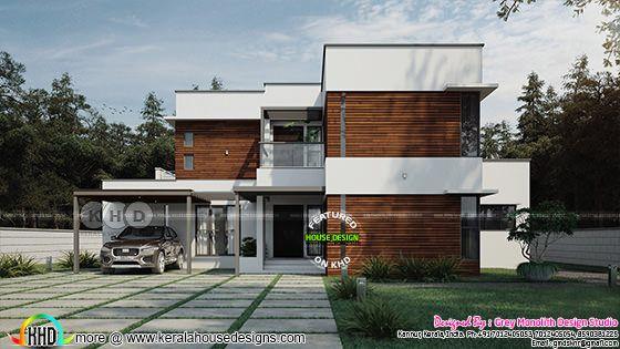 Minimalist contemporary house plan 2233 sq-ft