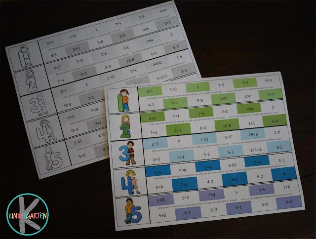 kindergarten math - clever number, number words, addition, and subtraction practice for kindergartners