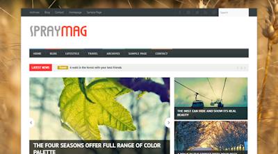 Spraymag Free Magazine For Blogger Template - sebarkantips