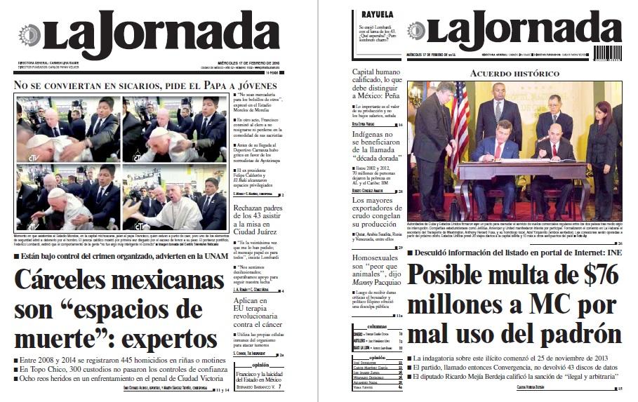Noticias Guerrer S Sme Peri Dicos La Jornada C Rceles