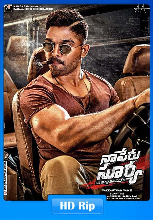 Naa Peru Surya Na Illu India 2018 720p UNCUT HDRip Dual Audio Hindi Telugu x264 | 480p 300MB | 100MB HEVC