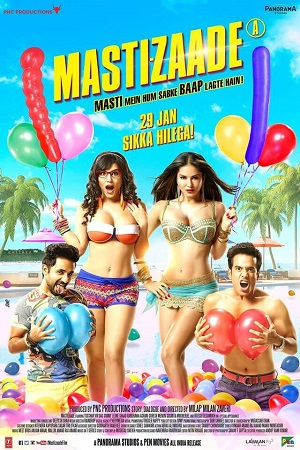 Poster Of Mastizaade 2016 Hindi 720p HDRip MSubs Free Download Watch Online