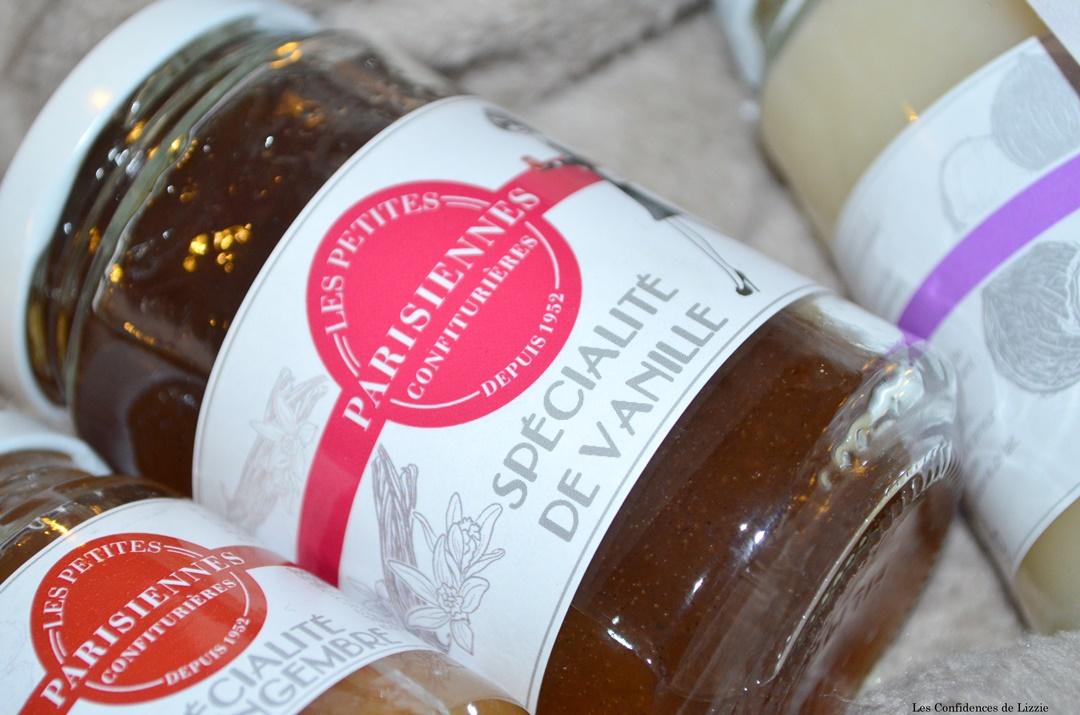 confiture - confiture specialite de vanille - figue noix - gingembre - noix de coco