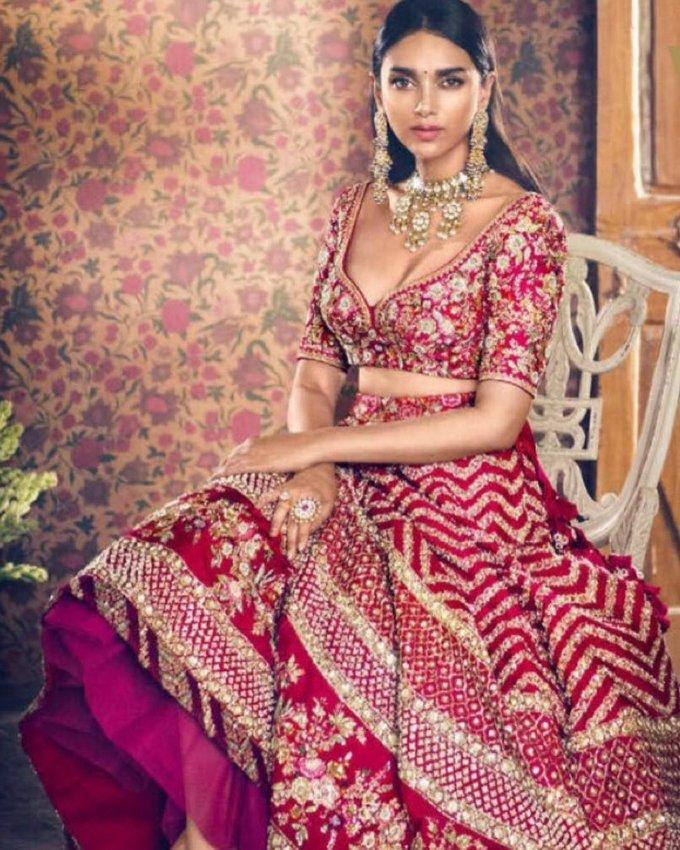 Aditi Rao Hydari Poses for Vogue Wedding Book Magazine Issue