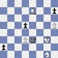 Estudio artístico de ajedrez de Vassily y Mikhail Platov, Rigaer Tageblatt - 1er. Premio – 1909
