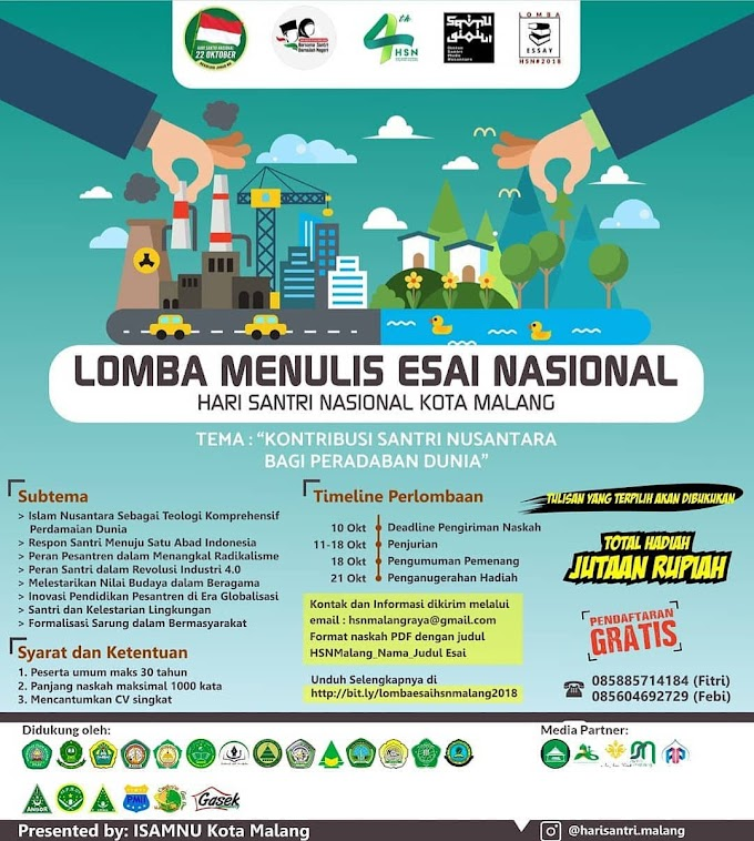 Info Lomba Essay Nasional HSN Malang 2018