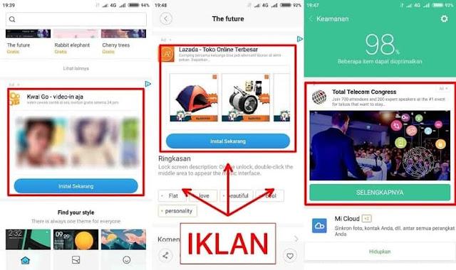 Menghilangkan Iklan di Aplikasi Bawaan Xiaomi MIUI 9