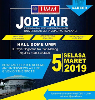 Job Fair Universitas Muhammadiyah Malang 2019
