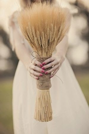 wheat wedding bouquet