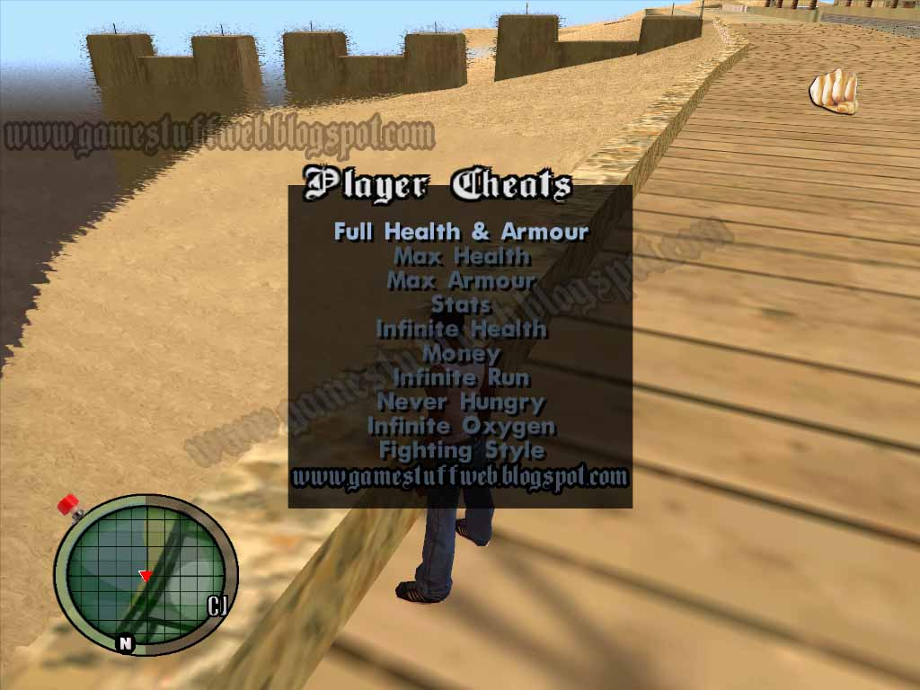 gta san andreas cheat menu mod free download