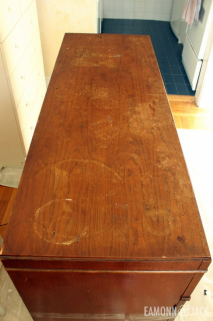 damaged wood top