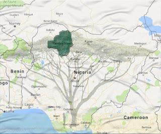 Zamfara Northwestern Nigeria Map of Africa
