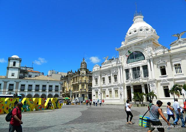 Palácio Rio Branco, na Praça Municipal de Salvador