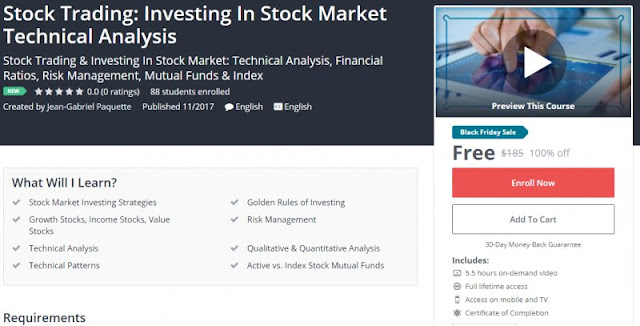 [100% Off] Stock Trading: Investing In Stock Market Technical Analysis  Worth 185$