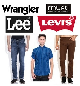 Top Brand (Wrangler, Lee, UCB, Levis, Mufti) Men's Clothing – Flat 50% to 80% Off @ Snapdeal