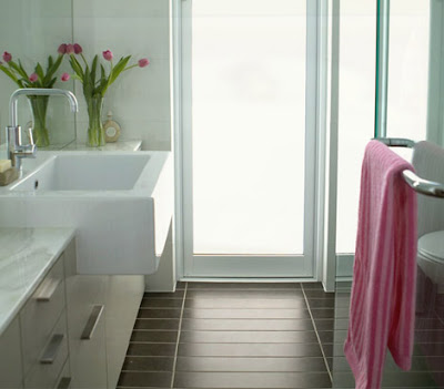 bathroom pink towel Adding Color without Paint: Interior Design Wednesday 12
