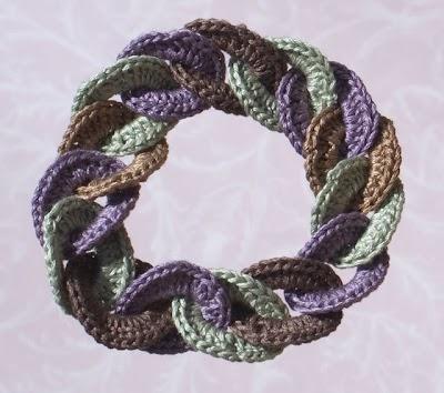 Pulsera de Crochet Aros Entrelazados