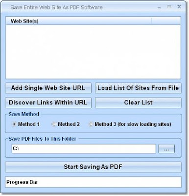 Save Entire Web Site As PDF Software 7.0 + Crack