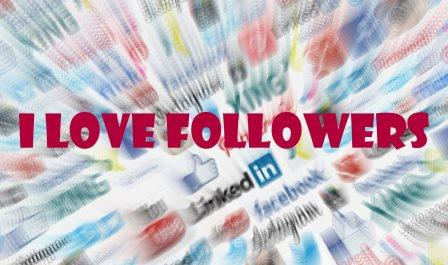 social media i love follower