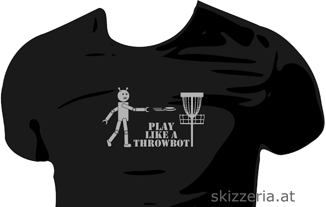 Play Disc Golf like a Throwbot Shirt