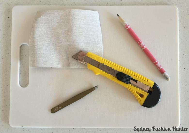 DIY Destroyed Jeans Step 2 - Gather Materials