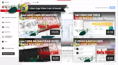 NOTASI LAYAR AKHIR VIDEO YOUTUBE
