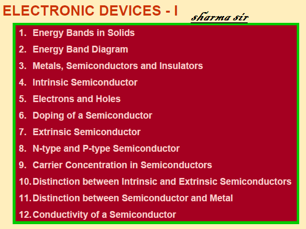 electric device ,physics 12,notes ,Energy bands in solids,intrinsic,doping,semiconductor, conductivity of semiconductor,