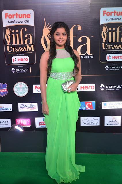 Anupama parameswaran Stills at IIFA Utsavam Awards 2017 Day 2