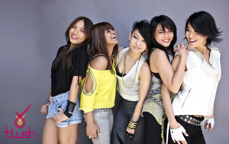 Asian teen group