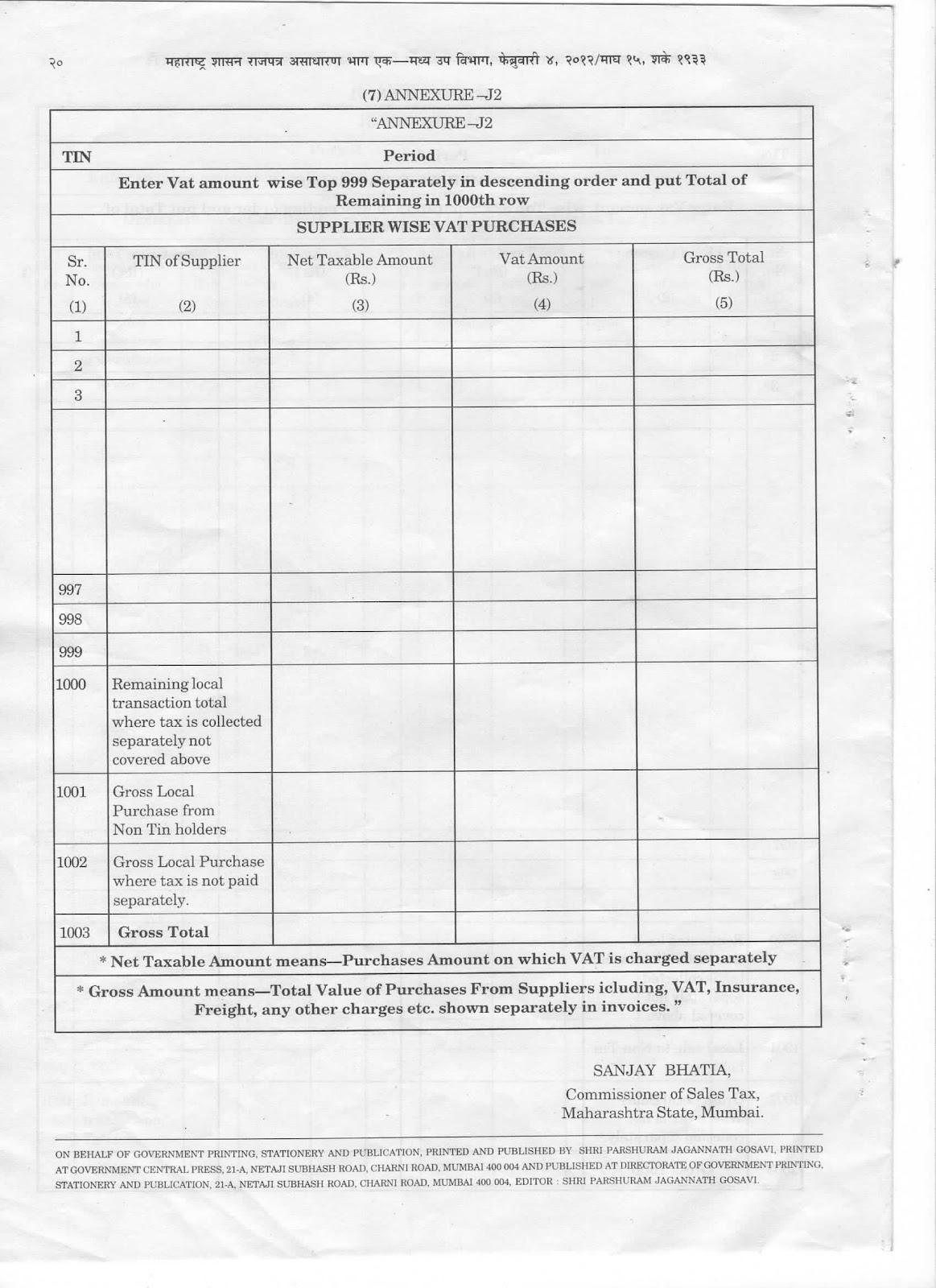 Ca Kamal Gangaramani B Com Fca Disa Icai Form 704 Annexure J2