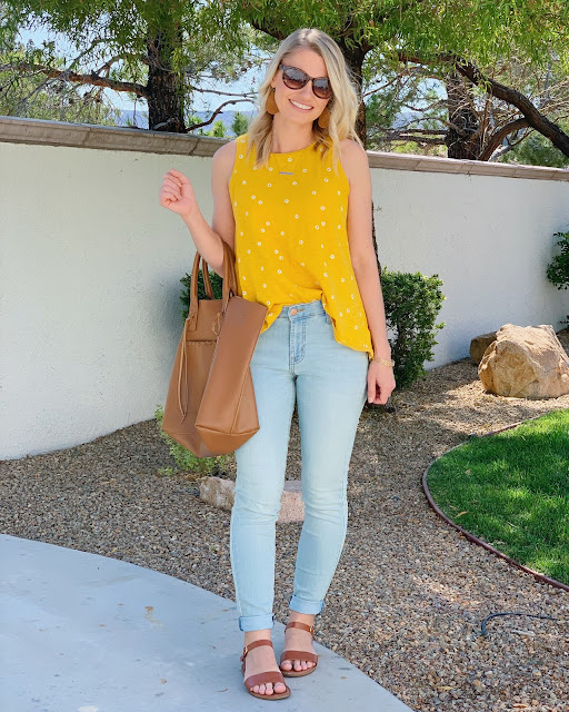 Yellow tank top- Spring Outfit