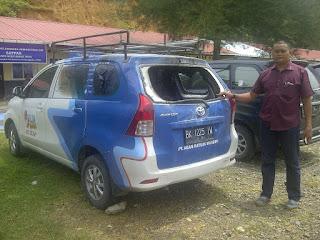 Mobil Rekanan PLN Rayon Blangpidie Dibakar OTK