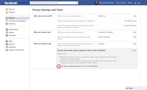 Ẩn mình trên Facebook tránh bị người khác làm phiền FB của bạn