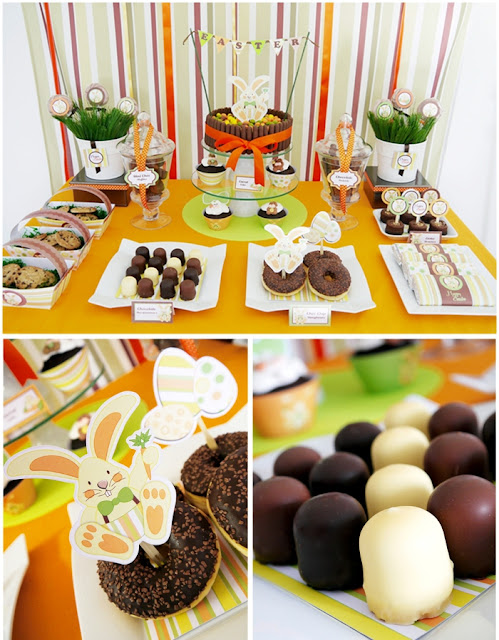 Easter Bunny Party: A Full-On Chocolate Desserts Table Styling
