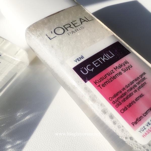 loreal yeni üç etkili kusursuz makyaj temizleme suyu