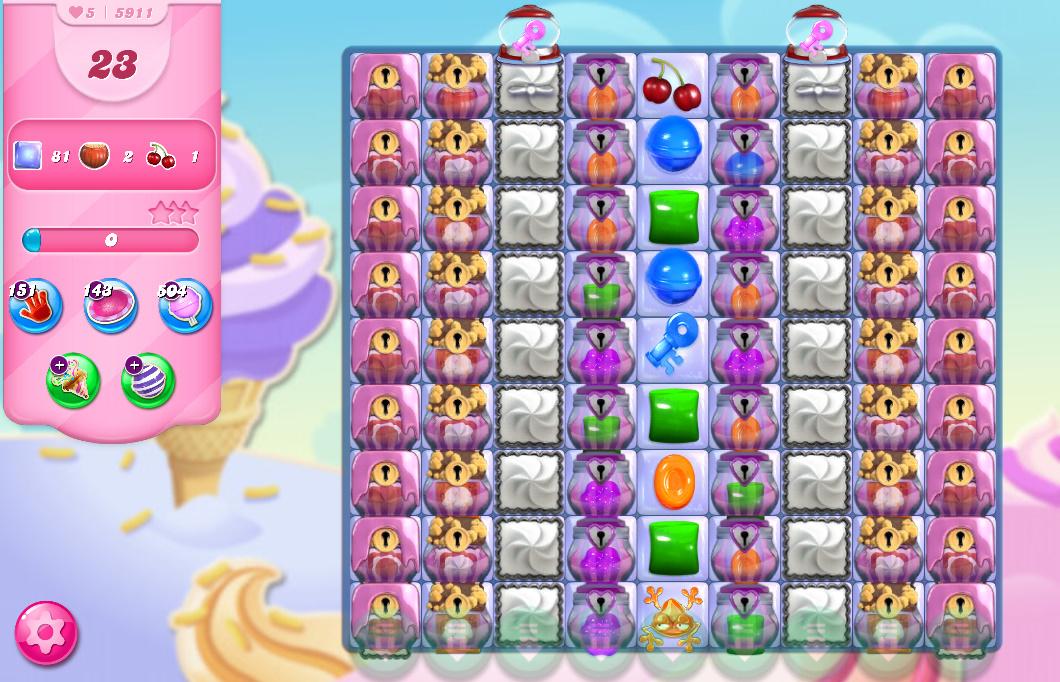 Candy Crush Saga level 5911