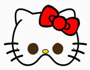 fiestas infantiles mascara de Hello Kitty