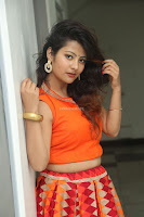 Shubhangi Bant in Orange Lehenga Choli Stunning Beauty ~  Exclusive Celebrities Galleries 016.JPG