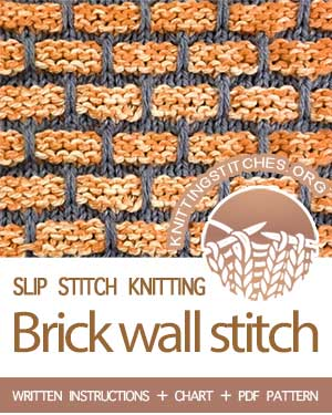 Brick stitch, also known as Brick wall stitch, Ballband stitch. This pattern is beautiful worked in solids and variegated.
