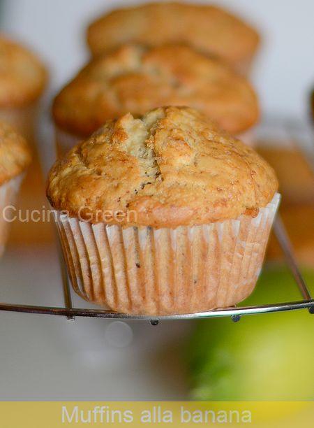 Ricetta Muffin Alla Banana.Cucina Green Muffins Alla Banana Senza Uova