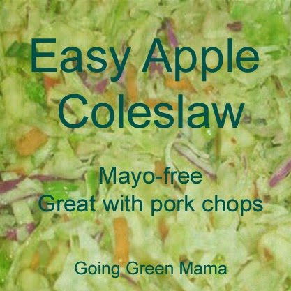 Coleslaw with no mayonnaise | easy apple coleslaw | coleslaw recipe