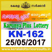 keralalotteries, kerala lottery, keralalotteryresult, kerala lottery result, kerala lottery result live, kerala lottery results, kerala lottery today, kerala lottery result today, kerala lottery results today, today kerala lottery result, kerala lottery result 25.5.2017 karunya-plus lottery kn 162, karunya plus lottery, karunya plus lottery today result, karunya plus lottery result yesterday, karunyaplus lottery w411, 25-5-2017