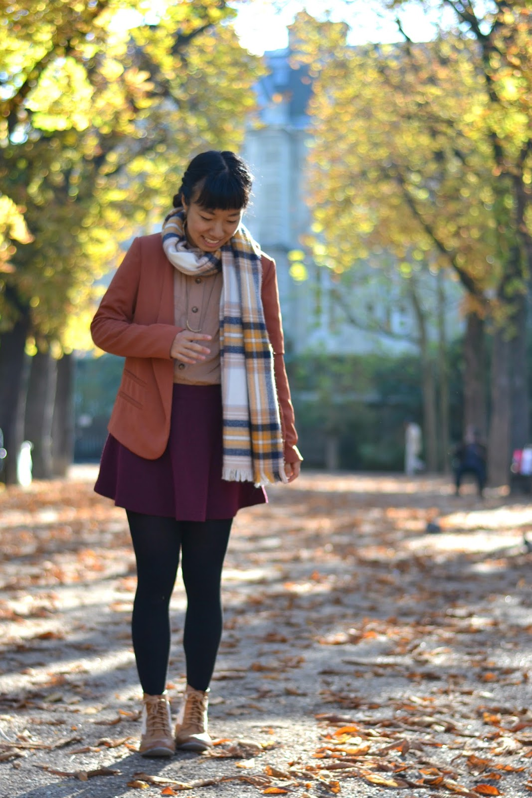 plaid scarf outfit