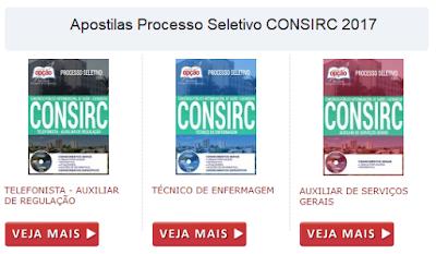 Apostilas para o Concurso Consirc de Catanduva-SP 2017