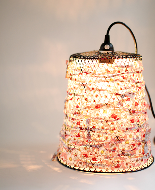 DIY: Wire Waste Basket Turned Pendant Light | Poppytalk