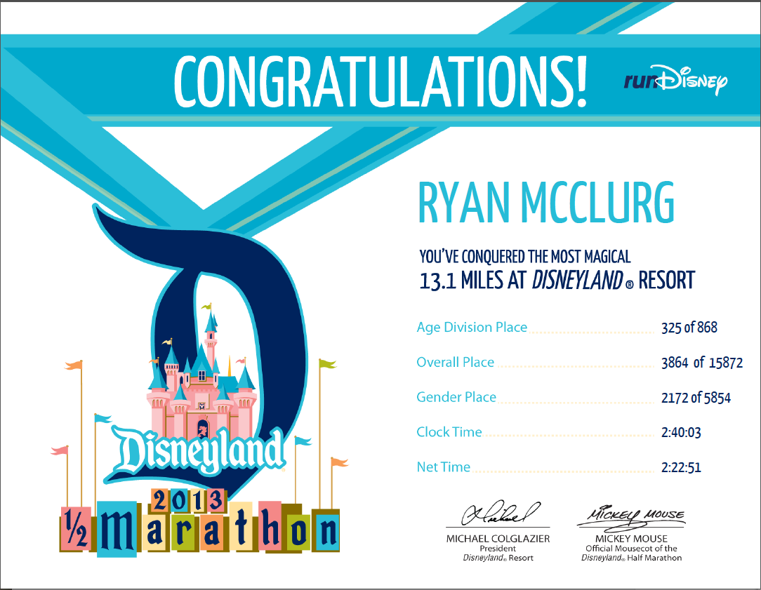 Carlee mcdot dl certificates for Fun run certificate template