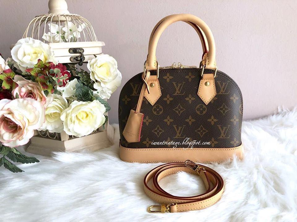 I Want Vintage Vintage Designer Handbags Louis Vuitton Alma Bb Monogram Canvas