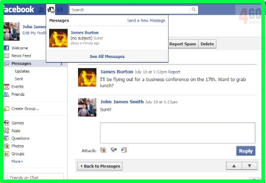 how to view messages on facebook mobile